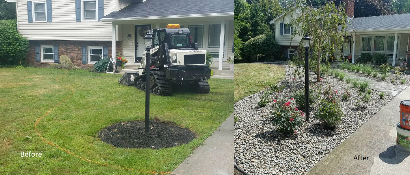 Front yard landscaping design before and after pictures