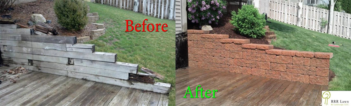 Landscaping before and after pictures