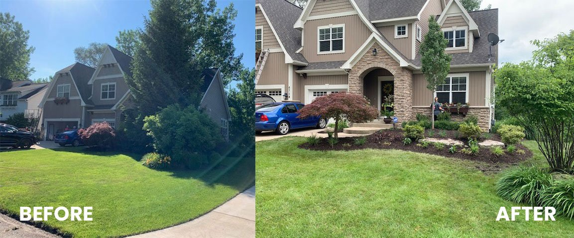 Before and After Yard Landscaping Photos